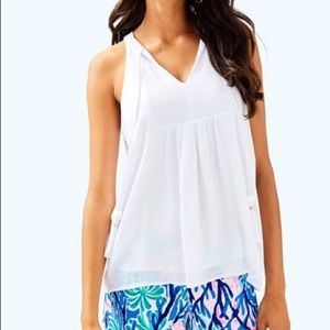 NWT Lilly Pulitzer Avery Top Resort White L